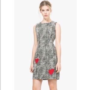 Desigual US XS Dress Estelar Racer Heart Applique